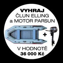 Návštěvnická soutěž o rybářský člun ELLING 330cm a lodní motor PARSUN 5HP v hodnotě 36 000 Kč
